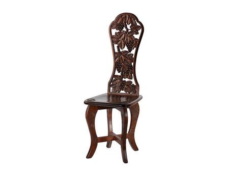 透かしハート椅子 葡萄