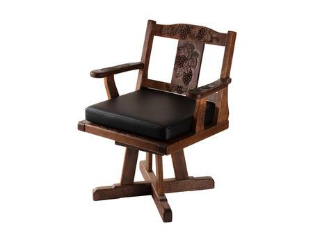 回転椅子 葡萄 本革