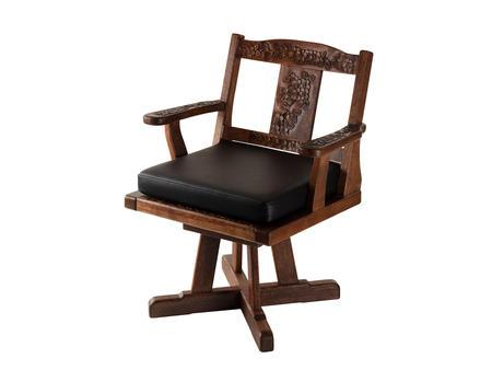 回転椅子 桜 本革