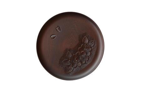7寸丸盆(三連桜) 桜