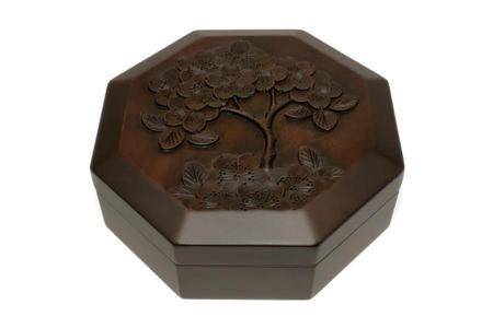 八角くりぬき箱 桜